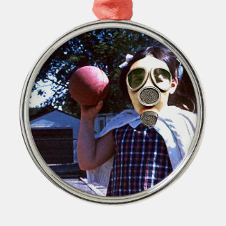 Gas mask red ball ornaments
