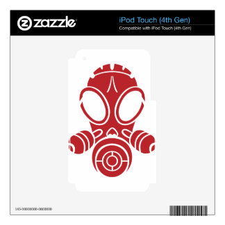gas mask red iPod touch 4G decals