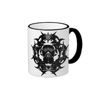 Gas mask ringer coffee mug