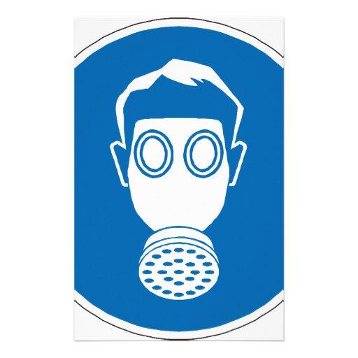 Gas Mask Sign Stationery Design