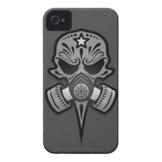 Gas Mask Sugar Skull, Grey iPhone 4 Cover