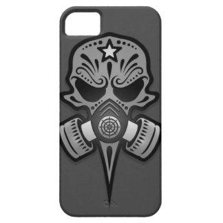 Gas Mask Sugar Skull, Grey iPhone SE/5/5s Case