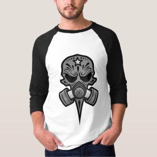 Gas Mask Sugar Skull (grey) T Shirt