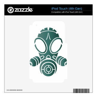 gas mask teal gradient iPod touch 4G skin