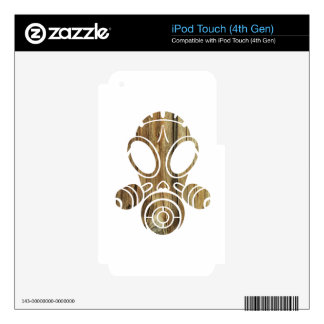 gas mask tree bark iPod touch 4G decal