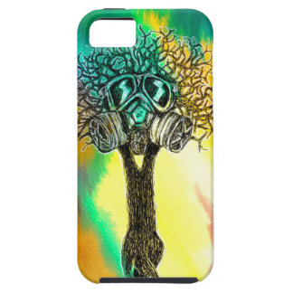 Gas Mask Tree iPhone SE/5/5s Case