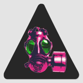 Gas Mask Triangle Sticker