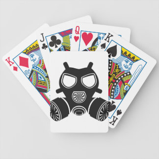 Gas mask vector bicycle playing cards