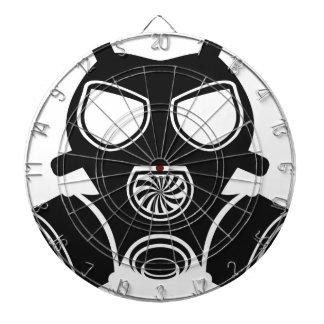 Gas mask vector dartboard with darts