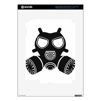 Gas mask vector decal for iPad 3