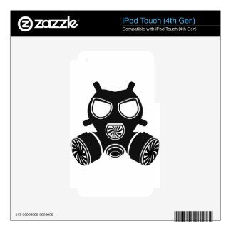 Gas mask vector decal for iPod touch 4G