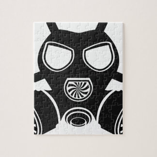Gas mask vector jigsaw puzzle