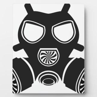 Gas mask vector plaque