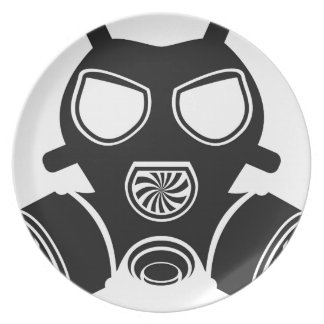 Gas mask vector plate