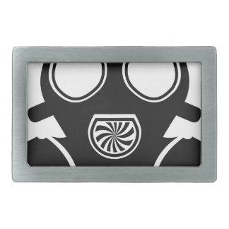Gas mask vector rectangular belt buckle
