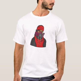 Gas Masked Protester T-Shirt