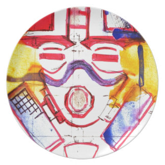 Gas Masked Soldier Party Plates