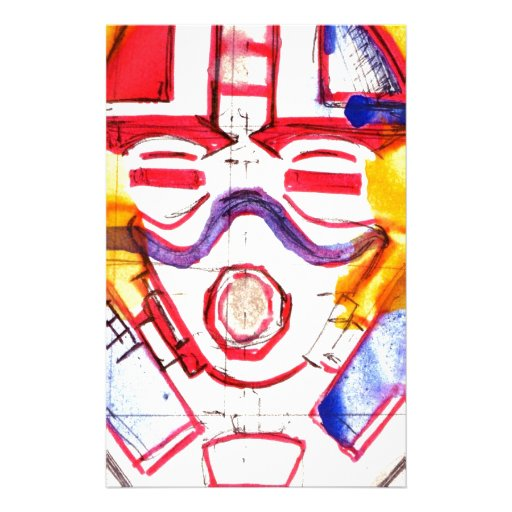 Gas Masked Soldier Stationery Design