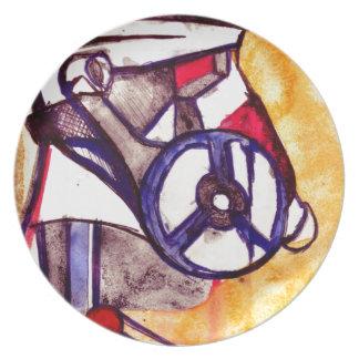 Gas Masked Soldier V2 Dinner Plates