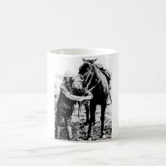 Gas masks for man and horse_War image Coffee Mug