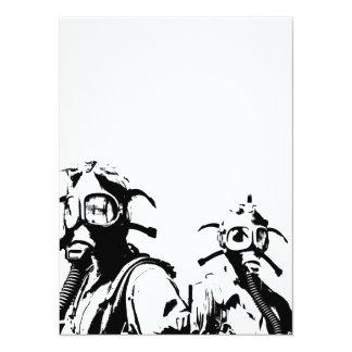 Gas Masks in Black Card