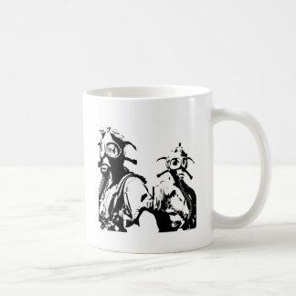 Gas Masks in Black Coffee Mug