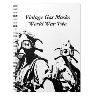 Gas Masks in Black Notebook