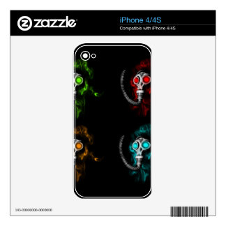 Gas masks skin for iPhone 4S