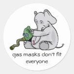Gas Masks Sticker Round Stickers