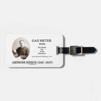 Gas Meter Ambrose Bierce The Devil s Dictionary Bag Tags