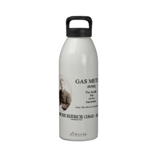 Gas Meter (Ambrose Bierce The Devil's Dictionary) Drinking Bottles