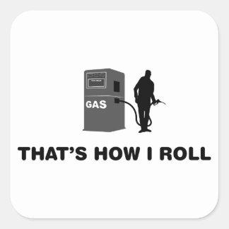 Gas Operator Square Sticker