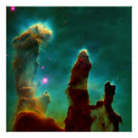 Gas Pillars in the Eagle Nebula -2007 Print
