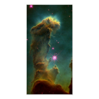 Gas Pillars in the Eagle Nebula (M16)- Pillars of Poster