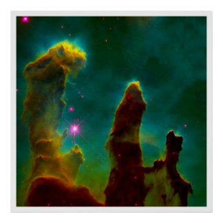 Gas Pillars in the Eagle Nebula (M16) Poster
