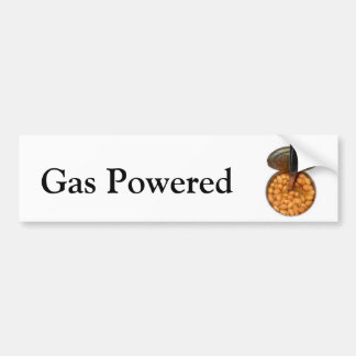 Gas Powered! Can of Gassy Beans Car Bumper Sticker