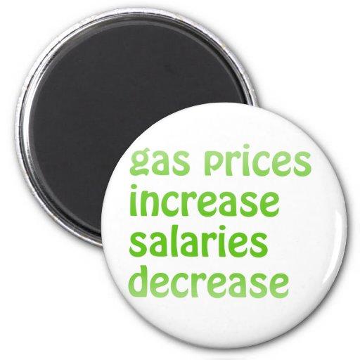 Gas Prices 2 Inch Round Magnet