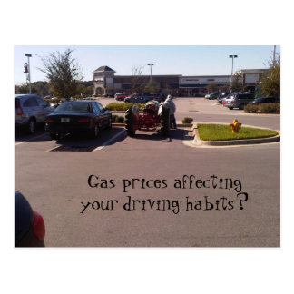 Gas Prices Affecting Your Driving Habits? Postcard