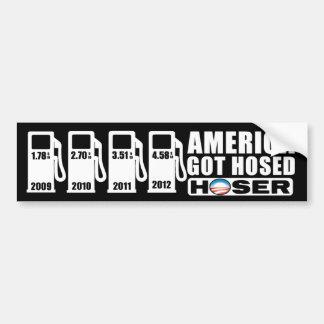 Gas Prices - America Got Hosed - Hoser Car Bumper Sticker