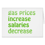 Gas Prices Greeting Card