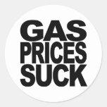 Gas Prices Suck Round Sticker