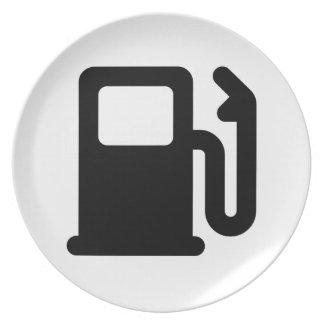 Gas Pump Dinner Plates
