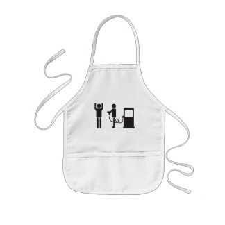 Gas Pump Robbery Kids' Apron