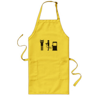 Gas Pump Robbery Long Apron