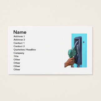 Gas refilling station business card