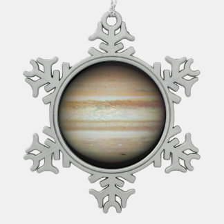 Gas Ring Around Supernova Snowflake Pewter Christmas Ornament