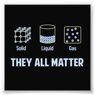 Gas sólido líquido - ellos toda la materia impresiones fotográficas