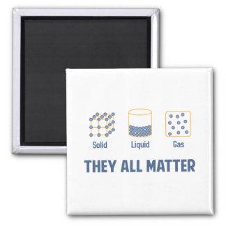 Gas sólido líquido - ellos toda la materia imán cuadrado