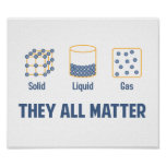 Gas sólido líquido - ellos toda la materia póster