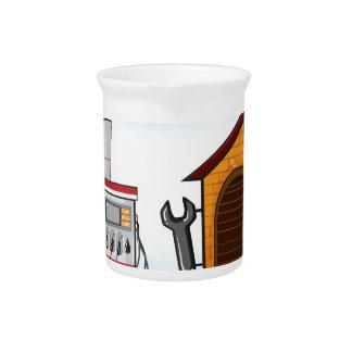 Gas station and garage beverage pitcher